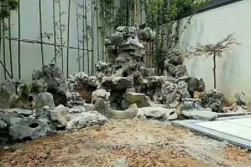 阜阳假山施工_塑石假山施工正在代替自然山石