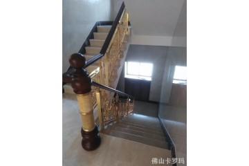 苏州精雕铜雕花楼梯扶手生产厂家