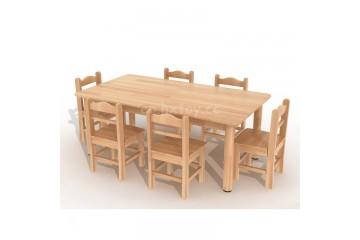 幼儿园木质家具榉木桌