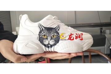 5D凹凸面成品鞋子打印机 凹凸弧面不规则高落差鞋子UV打印机