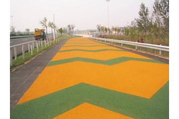 江北区彩色防滑路面厂家分析彩色防滑路面增色方法